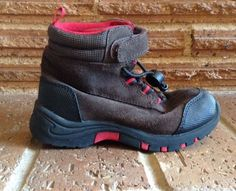 GAP Kids Boys 11 Brown Hiking Boots Hi-Tops Sneakers Shoes Toggle & Velcro Euc  | eBay
