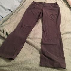 Lululemon crop pants Lululemon crops pants size 8, grey. lululemon athletica Pants Ankle & Cropped