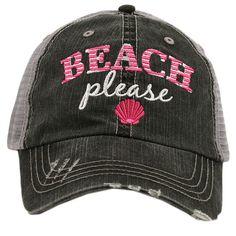 Beach Please Trucker Hat  Beach Hat  Beach Fashion  by RagCrazy
