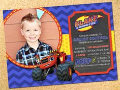 Blaze and the Monster Machines Inspired Birthday by Owen & Sally Designs