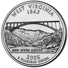 West Virginia's quarte created by West Virginia artist Jamie Lester~