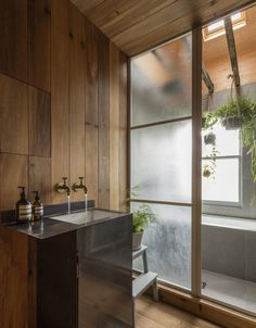 To add to the charm of the restroom, you can utilize Japanese bathroom styles. The uniqueness of the Japanese bathroom is a minimalist as well as traditional design. Bad Inspiration, Bathroom Inspiration, Bathroom Ideas, Wood Panel Bathroom, Family Bathroom, Bath Ideas, Bathroom Organization, Bathroom Designs, Master Bathroom