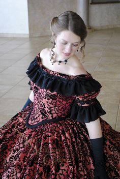 CUSTOM Victorian Bridal Civil War Steampunk Ball by MattiOnline, $475.00