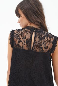 Floral Lace Top   FOREVER21 - 2000120478