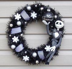 Nightmare Before Christmas JACK SKELLINGTON Holiday Wreath on Etsy, $65.00