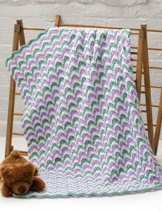Blanket and Booties | Yarn | Free Knitting Patterns | Crochet Patterns | Yarnspirations