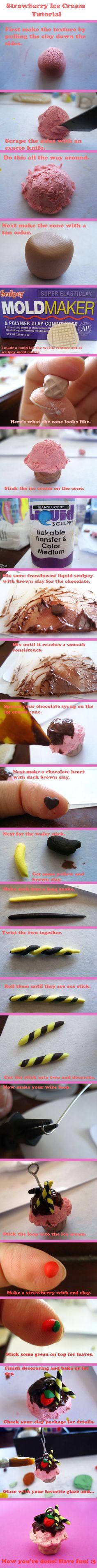 Strawberry Ice Cream Tutorial by ~mAd-ArIsToCrAt on deviantART