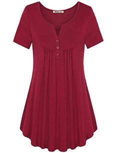 Short Sleeve Tunic,Nomorer Women's Casual V-Neck T Shirt ... https://www.amazon.com/dp/B06XVSBYJ6/ref=cm_sw_r_pi_dp_x_wvugzb2DTN8AH