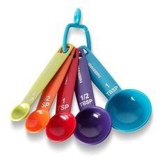 Farberware Color Set Of 5 Measuring Spoons New In Package #Farberware