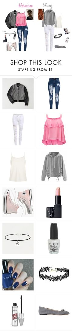 """Hermione and Ginny -chapter 2-"" by megpegachu on Polyvore featuring Abercrombie & Fitch, Miss Selfridge, The Row, WithChic, Madewell, NARS Cosmetics, OPI and ANNA BAIGUERA"