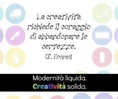 """""""La creatività richiede il coraggio di abbandonare le certezze"""" - Eric Fromm #citazionicreative #citazioni #creatività #Decografic"""