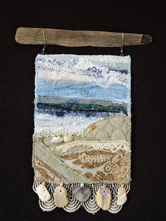 Beach Series #41 original fiber art by Eileen Williams