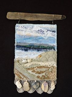 Beach Series #41 original fiber art by Eileen Williams