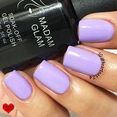 Madam Glam Soak-Off Gel Polish Light Lilac