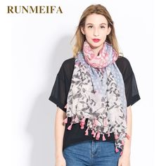 >> Click to Buy << [RUNMEIFA] Autumn and winter new lady spring and autumn silk scarf Youth lovely The branch leaves combination shawl #Affiliate