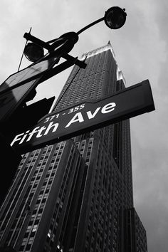 Fifth Avenue . Building . City Photography . NY . NYC . New York City . Black and White .