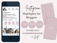Instagram Highlight Covers for Bloggers Pink White   Etsy Text Icons, Handwriting Styles, Custom Icons, Handwritten Fonts, Gift Quotes, Instagram Highlight Icons, Graphic Design Branding, Wedding Moments, Minimal Fashion