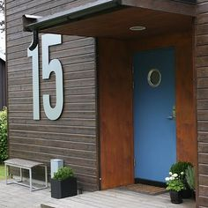HUGE house numbers... LOVE! via Offbeat Home http://offbeathome.com/2011/11/cool-house-numbers