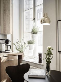 An elegant Swedish space with a mid-century touch