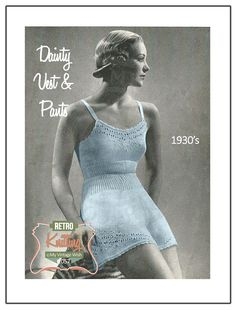 1930s Vest and Panties Vintage Knitting Pattern  by MyVintageWish