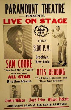 Sam Cooke, Otis Redding, Wilson Pickett, Jackie Wilson.. Brooklyn, 1963.