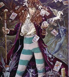'The Magician' by Brian Froud. The model for this is painting Brian's son Toby Froud.