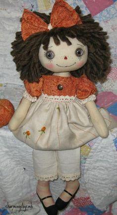 Primitive Folk Art Raggedy Ann Doll Paisley Blessings | eBay