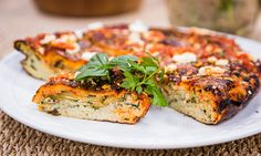 Home & Family - Recipes - Cristina Cooks - Frittata with Zucchini & Goat Cheese | Hallmark Channel