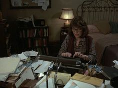 Anne Bancroft as Helene Hanff writing to her English friends in 84 Charing Cross Road