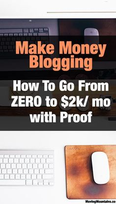 Great tips on how to start a blog that makes real income - http://movingmountains.co/make-money-blogging-4-key-steps-to-go-from-0-2k-per-month-and-proof-it-works/
