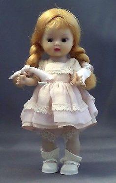 Vintage Nancy Ann Storybook Muffie 1956 Strawberry blond saran braids doll
