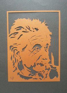 Items similar to Albert Einstein Handmade Paper Cut Silhouettes Papercutting Portrait on Etsy Papercut Art, Sink Drawing, Silhouette Artist, Gravure Laser, Albert Einstein, Graffiti Lettering, Portrait Art, Paper Design, Paper Cutting