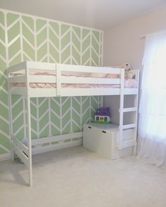 IKEA mydal loft bed hack for little girls room.     Just change the colors and…