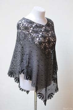 Brand new poncho - crochet clothing by Nastiin