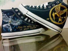 Mockingjay Hunger Game Inspired Hand Painted Canvas Shoes High T,High-top Painted Canvas Shoes