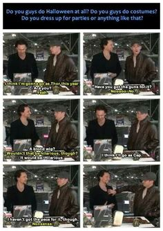 Chris Evans and Tom talking about Halloween