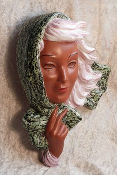 Goldscheider Artist Thomasch Art Deco Lady's Face Wall Mask