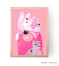 """This is a fine art print from the original """"Galah"""" Artwork by Pete Cromer. Available in the following sizes and editions ----------------..."""