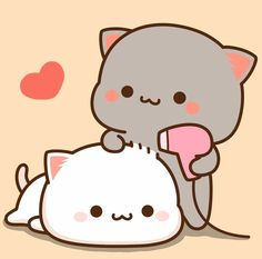 Cute Cat Wallpaper, Kawaii Wallpaper, Cute Love Pictures, Cute Images, Chibi Cat, Cute Cat Illustration, Little Panda, Kawaii Cat, Cute Cartoon Wallpapers