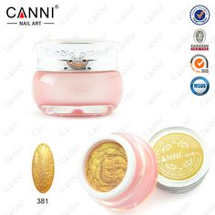 #51203 CANNI hot sell nail art new 24 colors 10ml starry glitter color uv led soak off paint gel ink