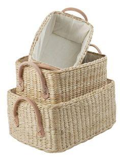 wicker storage baskets #PCHDreamSummerBedroom