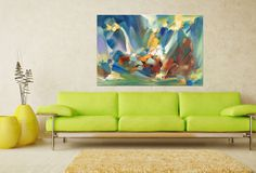 Abstract Painting, Oil Painting, Abstract Art, Modern Painting, Large Abstract Art, Bathroom Wall Decor, Original Painting, Canvas Art Heavy Texture Oil Painting Size: 32x48 inches(80x120 cm) To view more of my unique abstract paintings please visit: https://www.etsy.com/shop/GeorgeMillerArt?section_id=18114244&myref=product_desc Medium: Oil on gallery-wrapped stretched canvas. Palette Knife, Textured, staples on back, ready to hang The painting is signed on the front and 100% guaranteed,...