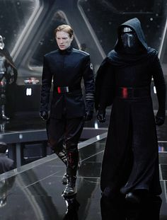 """brockrumiow: """" Domhnall Gleeson as General Hux and Adam Driver as Kylo Ren in Star Wars: The Force Awakens (2015) """""""