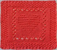 Heart Dishcloth. Pattern from Ravelry.com