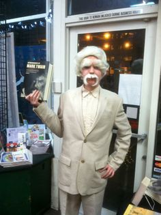 Remember that time Mark Twain stopped by Rediscovered Books?