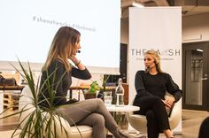 Sabinije Von Gaffke leads a fireside chat with Sweden's most responsible business leader - Malin Cronqvist (right). A former member of Impact Hub Stockholm and Founder of HelptoHelp.