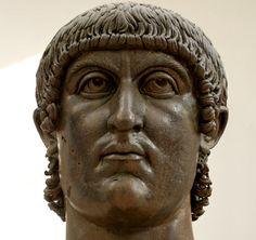 keizer Constantijn de Grote. Bronzen buste, 4de eeuw. Rome, Musei Capitolini
