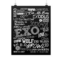 High quality poster print on a 264 gsm fine art paper using custom-developed, archival, acid free pigment inks. Designed for an indoor use. Diy Bag Designs, Exo Showtime, What Is Love, My Love, Suho Exo, Exo Chen, Exo Ot12, Exo Lockscreen, Exo Fan Art