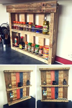 Multipurpose Pallet Shelves - Decorative and For Kitchen -  by #99Pallets