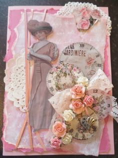 Vintage Lady, Love in the mist of time Journal Paper, Art Journals, Breast Cancer Crafts, Mothers Day Cards, Altered Books, Vintage Cards, Mists, Vintage Ladies, Decoupage